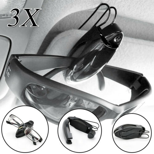 3X Car Sun Visor Glasses Sunglasses Ticket Clip Auto Eyeglasses Card Cash Holder