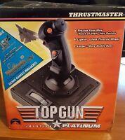 Thrustmaster Top Gun Joystick Platinum For Flight Simulators Never Used
