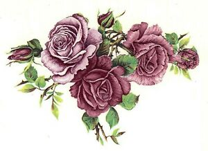 Pink Rose Swag Flowers Select-A-Size Waterslide Ceramic Decals Bx   eBay