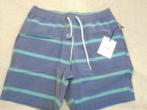 Nwt 12 Charlie Onia Pattern Swim taglia Blue Striped Trunks Textured 75 Boy's xOnR8AU