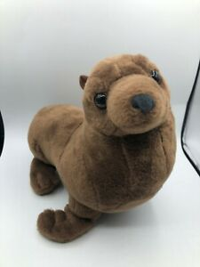 Wild-Republic-Cuddlekins-Walrus-Seal-Brown-Plush-Kids-Soft-Stuffed-Toy-Animal