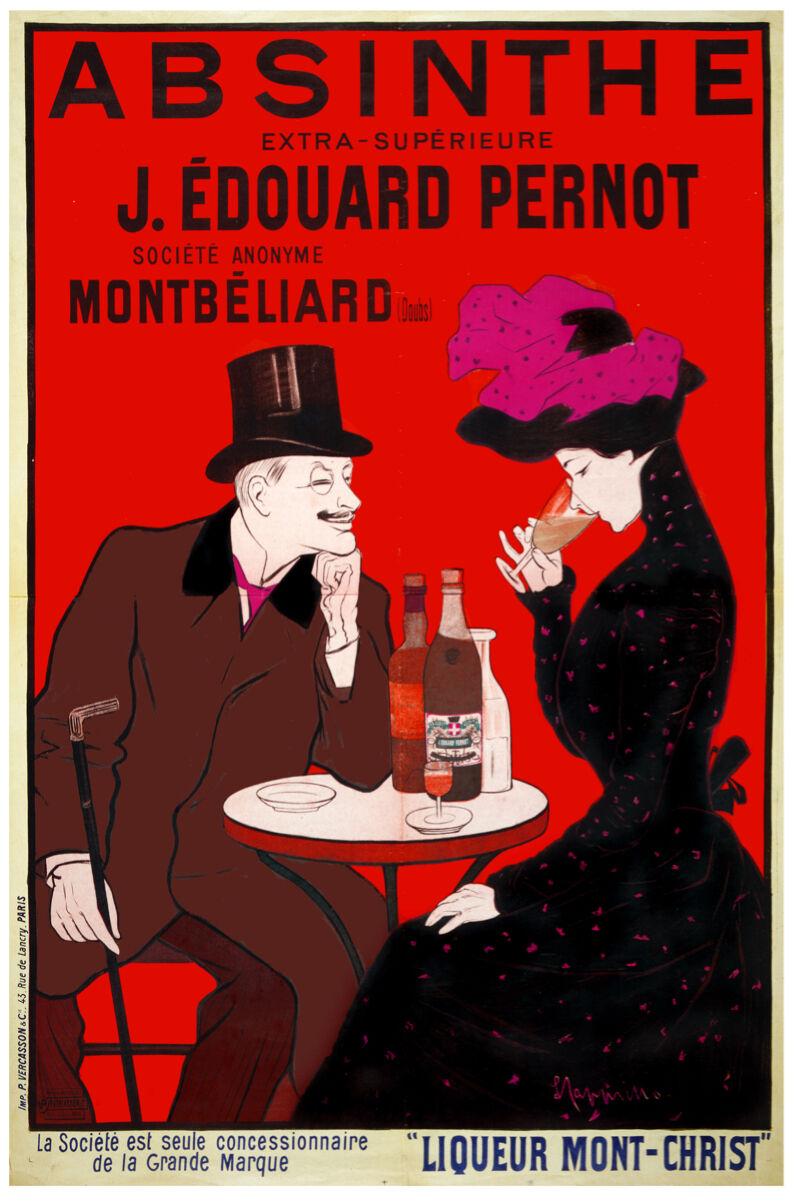 Vintage Ad POSTER.Stylish Graphics.Monte-Christ Liquor.Bar wall Deco Art.729i
