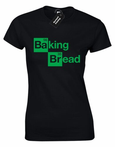 BAKING BREAD LADIES T SHIRT BREAKING BAD WALTER WHITE COOKING BAKING FUNNY TOP