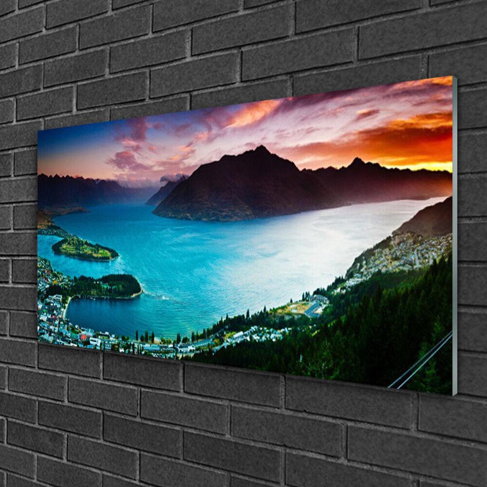 Tableau sur verre Image Impression 100x50 Paysage Fiord Péninsule Montagnes