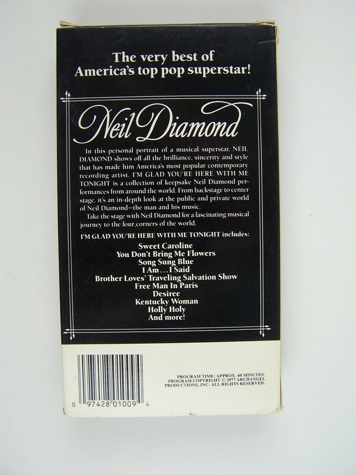 Neil Diamond - I'm Glad You're Here With Me Tonight VHS