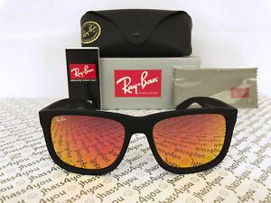 6555d3d354 Ray-Ban Justin RB4165 622 6Q Wayfarer Sunglasses Matte Black Red ...