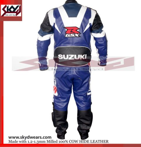 Suzuki Blue Racing Leather Motorcycle suit All Sizes