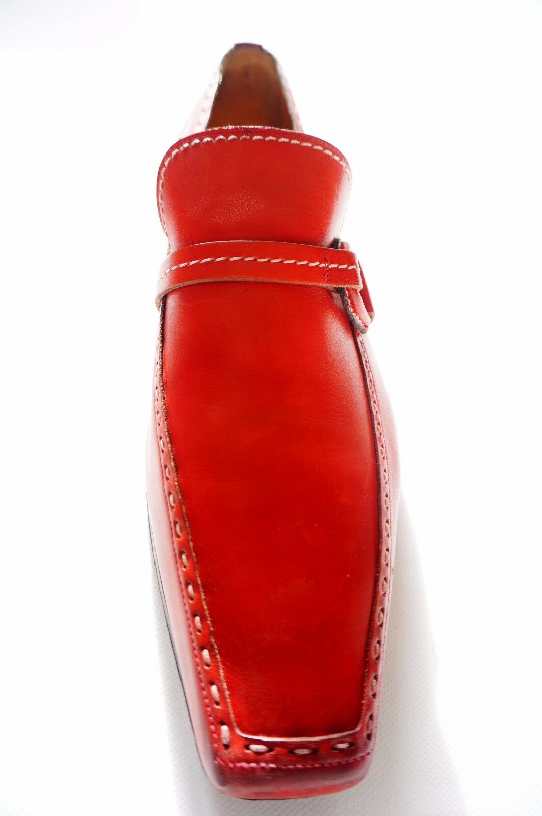 Sergio ROSSI Scarpe uomo scarpe, Rossi in pelle uomo Slipper Scarpe ROSSI grande; 45 (10.5) e39745