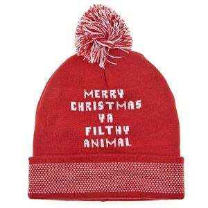 New Home Alone Merry Christmas Filthy Animal Beanie Winter Cap Hat ... 40c91753290