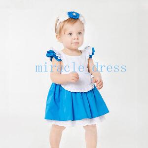 competitive price 94512 9b6fa Dettagli su Alice nel paese delle meraviglie Vestiti Abiti Bambina  Pagliaccetto Cosplay Vestito Con- mostra il titolo originale