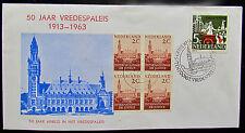 Gelegenheidsenvelop 50 Jaar Vredespaleis 1963 Tentoonstelling in Den Haag