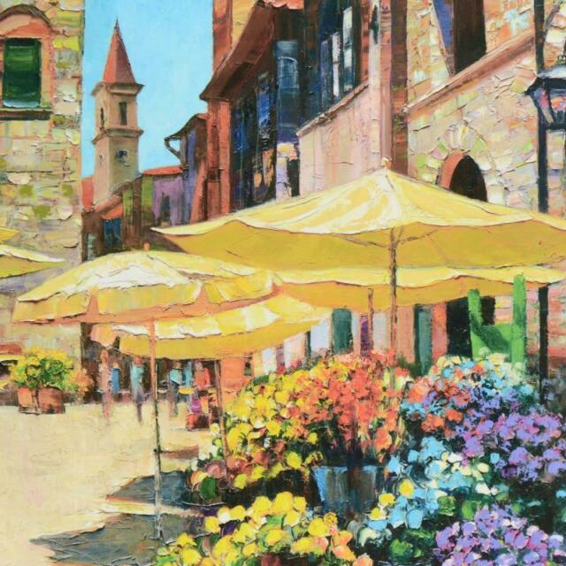 Howard Behrens Siena Flower Market Europe Patios Flowers Print Poster 24x32