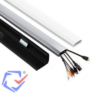 aluminium kabelkanal alu kabel kanal kabel leiste tv profil aufputz 750mm 75cm ebay. Black Bedroom Furniture Sets. Home Design Ideas