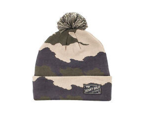 4575f003f26b8 Benny Gold FOG CAMO POM Army Camouflage Grey Khaki Knit Olive Hat ...