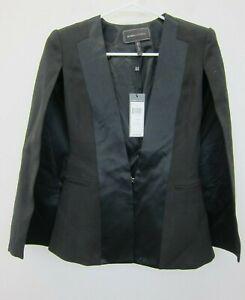 BCBG-Max-Azria-Women-039-s-Frances-Tuxedo-Cape-2XS-Black-NWT