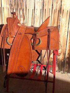 Details about Custom Made Tack Hand Tooled Western Horse Saddle, Original,  Maker Doug Stockton