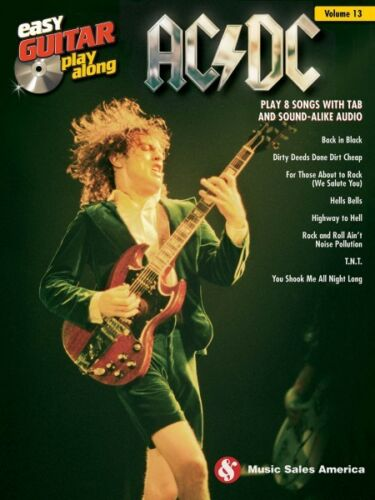 AC DC Sheet Music Easy Guitar Play-Along Book and Audio 014042895