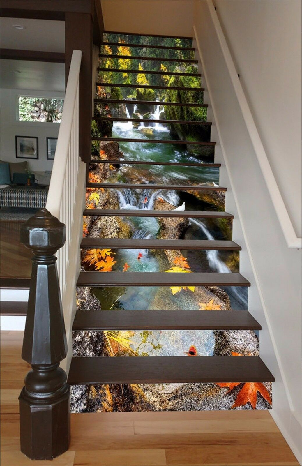 3D Rivulet Leaf 597 Stair Risers Decoration Photo Mural Vinyl Decal WandPapier AU