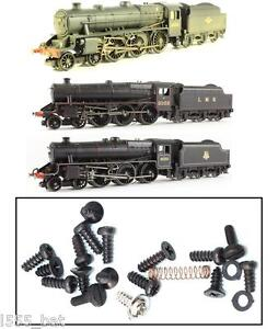 New-Hornby-Spares-X9085-Black-5-Small-Screws-Steam-Train-Loco-Parts-Inc-Spring