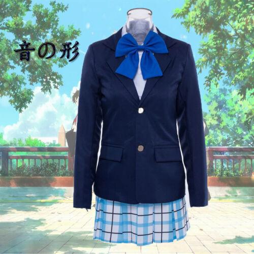 Koe no Katachi Nishimiya Shouko Anime Costume Cosplay Uniform School Suit Track