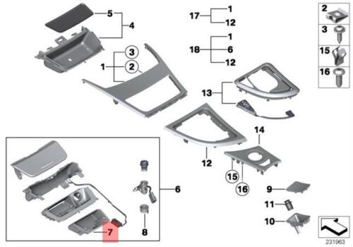 Genuine BMW E90 E91 E92 E93 E87 E81 E82 E88 FRONT ASH TRAY INSERT 7078573