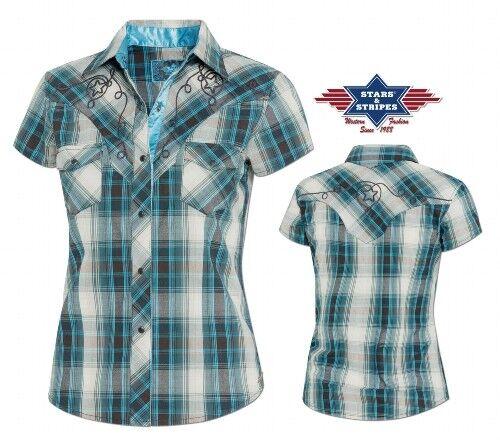 Chemises country western ref:JOSIE Stars/&Stripes