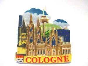 Belle Cologne Cologne Dom 3d Poly Frigo Aimant Souvenir Germany (112):-afficher Le Titre D'origine Officiel 2019