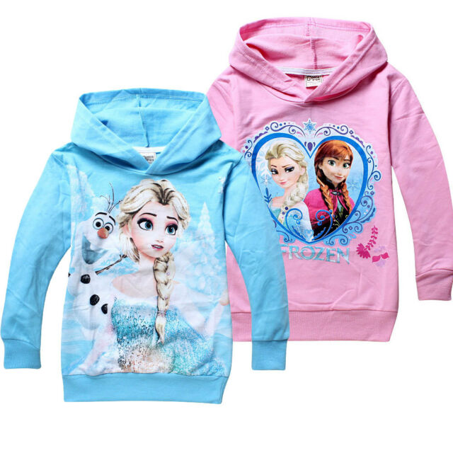 Hoodies Disney Frozen Elsa Princess Kids Girls Baby Jacket Coat Clothing shirt