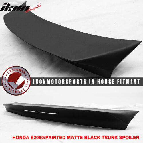 Fits 00-09 Honda S2000 AP1 AP2 TM Style Matte Black Trunk Spoiler FRP