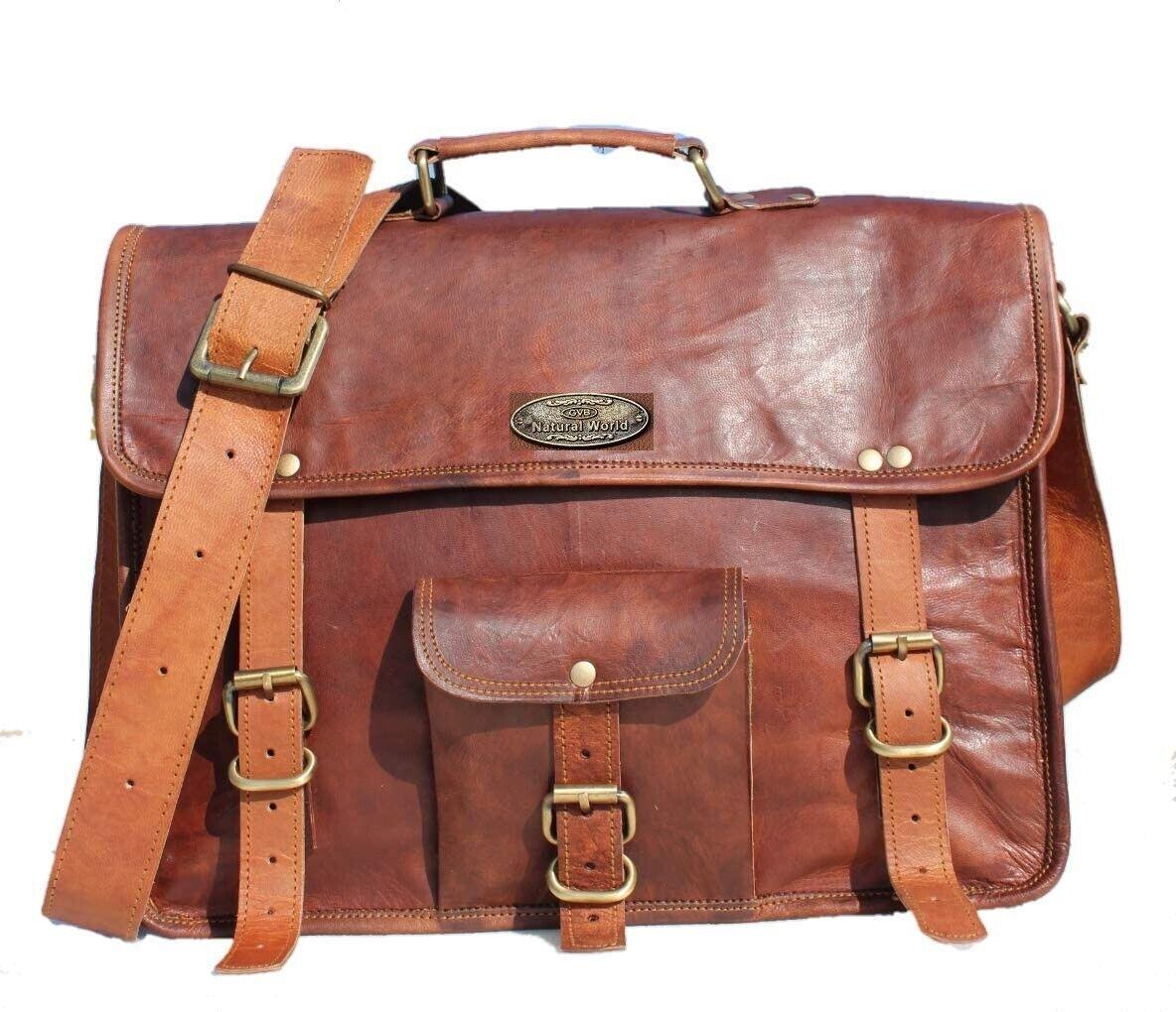 Men's Superior Quality Rustic Vintage Leather Messenger Man HANDBAG Laptop Bag