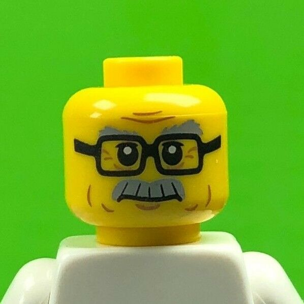 x2 NEW Lego Yellow Minifig Head Glasses with Silver Sunglasses CITY TOWN CASTLE
