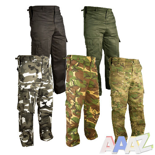 Mil-Tec Mens Army Combat BDU CARGO PANTS Ranger Trousers Blue Camo