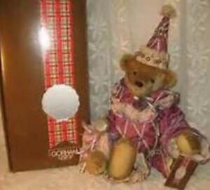 Faithful Rare Gorham mib Bear- Limited # 2500 Musical Beverly Port--silver Bell