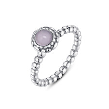 a6317c435 Pandora Pink Opal October Birthstone Ring Silver for sale online | eBay