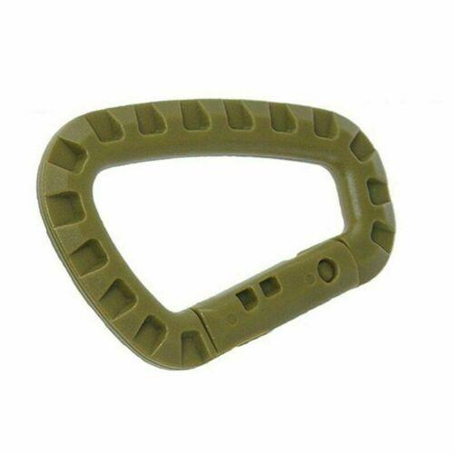 1//2//5PCS Tactical Outdoor Carabiner D Buckle Plastic Buckle Item  Handy Mse New