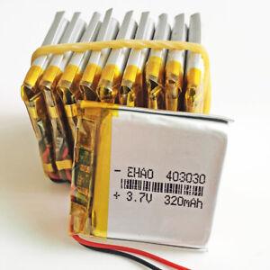 10 x 3.7V 320mAh Lipo Polymer Battery Li cells For GPS MP3 DVD PSP camera 403030