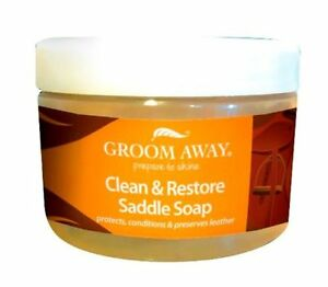 Groom-Away-Clean-amp-Restore-Saddle-Soap-400Gm-For-Horses-to-soften-amp-condition