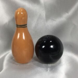 Vintage 50s Bowling Ball Pin Salt and Pepper Shakers