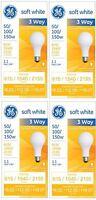 Ge 97494 Lighting 50/100/150-watt, 3-way Light Bulb, Soft White, 4-pack, New, Fr on sale