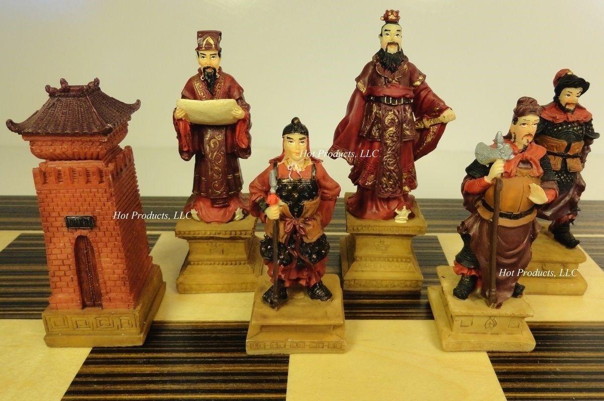 ORIENTAL THREE KINGDOMS Chess Men Set 3 3 4  King - NO BOARD