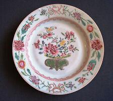 COMPAGNIE DES INDES magnifique assiette de la famille rose 18ème