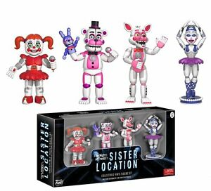 "NEW 2017 Five Nights At Freddy's 4 Pack 2"" MINI Figure Serie 3 SISTER LOCATION"