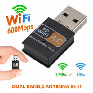 AC 600Mbps WLAN Stick Dual Band 2.4GHz / 5GHz WIFI Dongle USB Wireless Adapter X