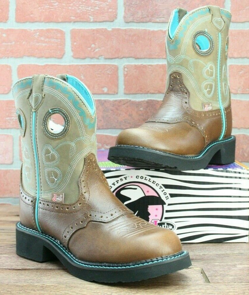 Justin Womens Gemma Tan Gypsy Western Boot - L9619 - Size 6.5 B