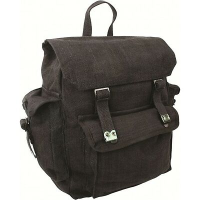 LARGE WEBBING BACKPACK with POCKETS rucksack bag army military cotton canvas web