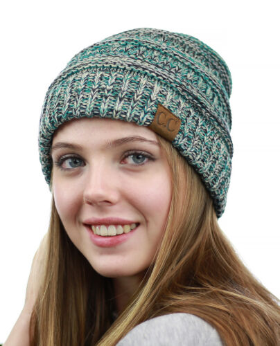 CC Beanie NYfashion101® Exclusive Women/'s Multi Color Cable Knit Thick Slouch