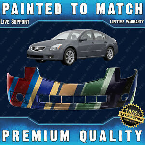 NEW Painted To Match Front Bumper Cover Fascia for 2004-2006 Nissan Maxima SE SL