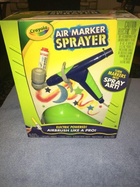 Crayola Air Marker Sprayer Set Airbrush Gift Ages 8 9 10 11 12