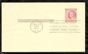 US-SC-UX38-Franklin-Postal-Card-FDC-Ready-For-Cachet