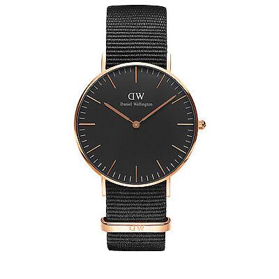 NEW Daniel Wellington DW00100150 Classic Cornwall Cornwall Rose Watch Black